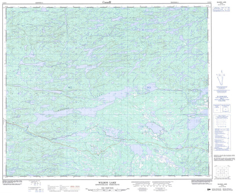 013E07 Wilson Lake Canadian topographic map, 1:50,000 scale