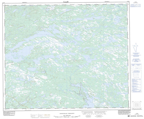 013E08 No Title Canadian topographic map, 1:50,000 scale
