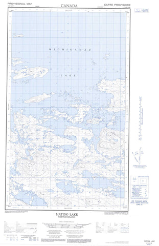 013E13W Mating Lake Canadian topographic map, 1:50,000 scale