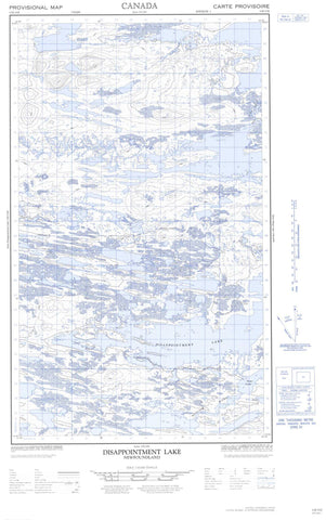 013E15E Disappointment Lake Canadian topographic map, 1:50,000 scale