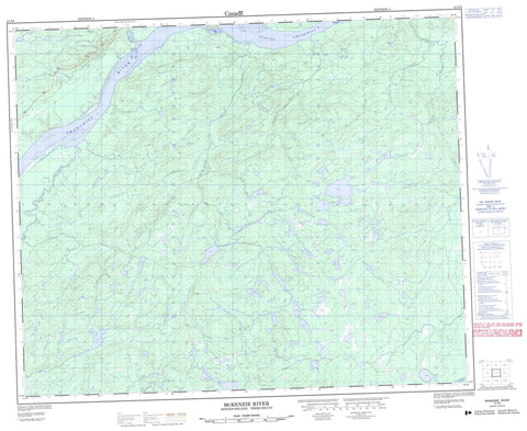 013F02 Mckenzie River Canadian topographic map, 1:50,000 scale