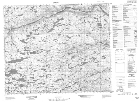 013F06 No Title Canadian topographic map, 1:50,000 scale