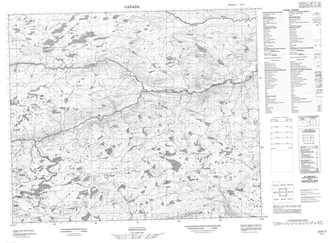 013F11 No Title Canadian topographic map, 1:50,000 scale
