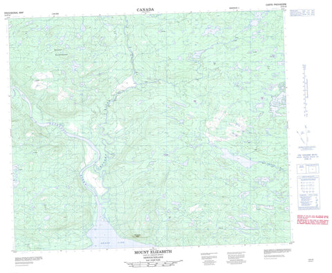 013F15 Mount Elizabeth Canadian topographic map, 1:50,000 scale