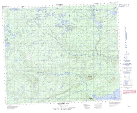 013F16 Mokami Hill Canadian topographic map, 1:50,000 scale