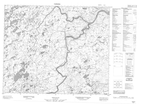 013G01 No Title Canadian topographic map, 1:50,000 scale