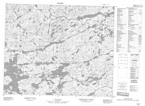 013G02 No Title Canadian topographic map, 1:50,000 scale