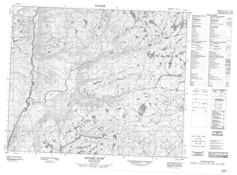 013G04 Kenamu River Canadian topographic map, 1:50,000 scale