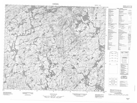 013G07 No Title Canadian topographic map, 1:50,000 scale