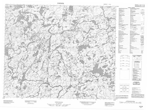 013G08 No Title Canadian topographic map, 1:50,000 scale