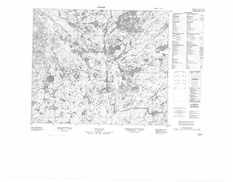 013G09 No Title Canadian topographic map, 1:50,000 scale