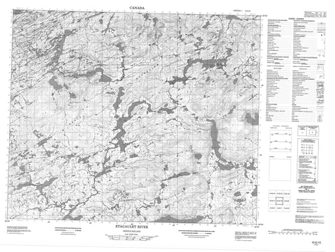013G10 Etagaulet River Canadian topographic map, 1:50,000 scale