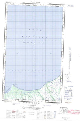 013G12E Epinette Point Canadian topographic map, 1:50,000 scale