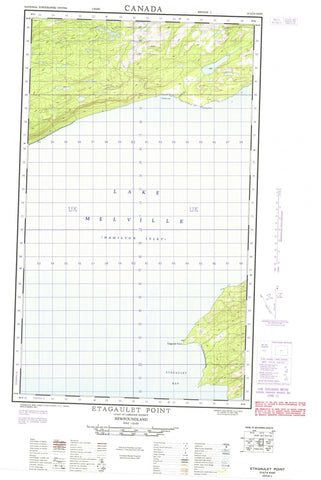 013G14E Etagaulet Point Canadian topographic map, 1:50,000 scale