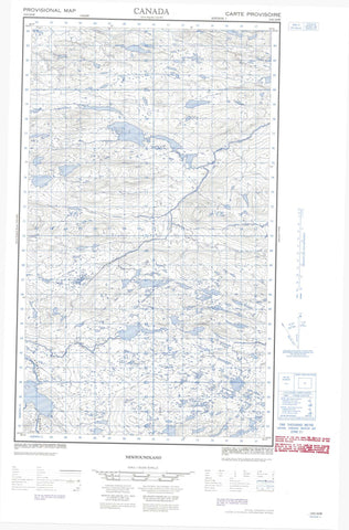 013G16W No Title Canadian topographic map, 1:50,000 scale