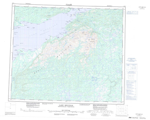 013G Lake Melville Canadian topographic map, 1:250,000 scale