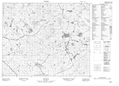 013H03 No Title Canadian topographic map, 1:50,000 scale