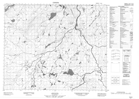 013H04 No Title Canadian topographic map, 1:50,000 scale
