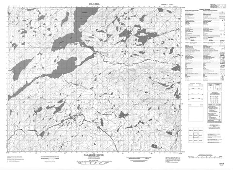 013H06 Paradise River Canadian topographic map, 1:50,000 scale