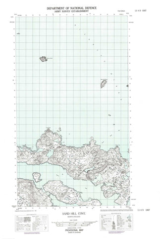 013H09E Sand Hill Cove Canadian topographic map, 1:50,000 scale