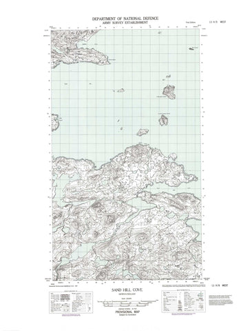 013H09W Sand Hill Cove Canadian topographic map, 1:50,000 scale