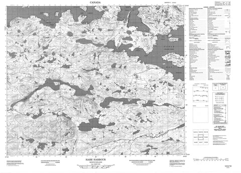 013H10 Hare Harbour Canadian topographic map, 1:50,000 scale