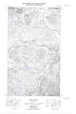 013H13E North River Canadian topographic map, 1:50,000 scale
