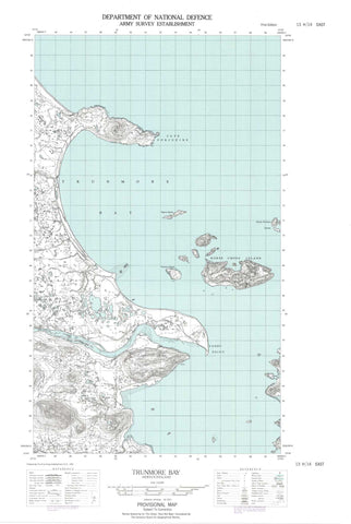 013H14E Trunmore Bay Canadian topographic map, 1:50,000 scale
