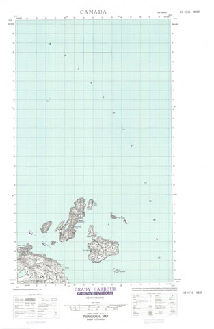 013H16W Grady Harbour Canadian topographic map, 1:50,000 scale