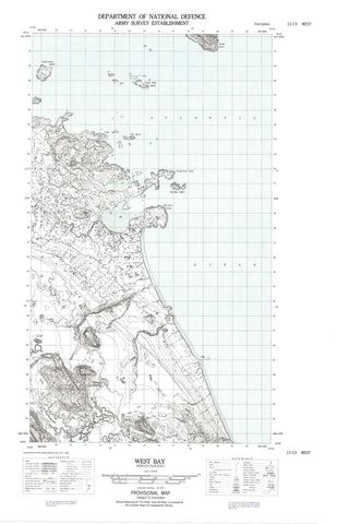 013I03W West Bay Canadian topographic map, 1:50,000 scale