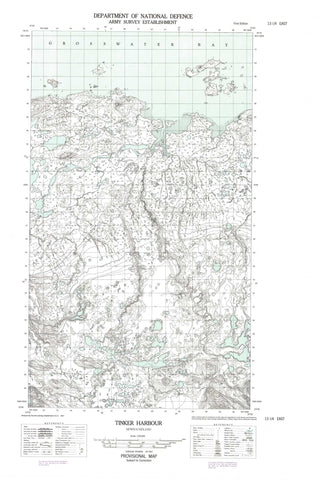 013I04E Tinker Harbour Canadian topographic map, 1:50,000 scale