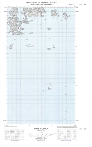 013I06E Indian Harbour Canadian topographic map, 1:50,000 scale