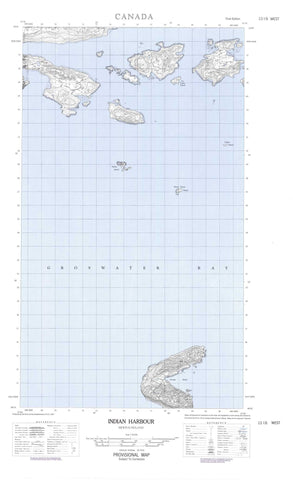 013I06W Indian Harbour Canadian topographic map, 1:50,000 scale