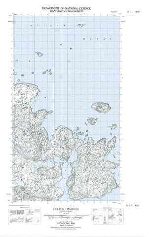 013I11W Holton Harbour Canadian topographic map, 1:50,000 scale