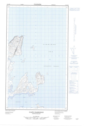 013I13W Cape Harrison Canadian topographic map, 1:50,000 scale