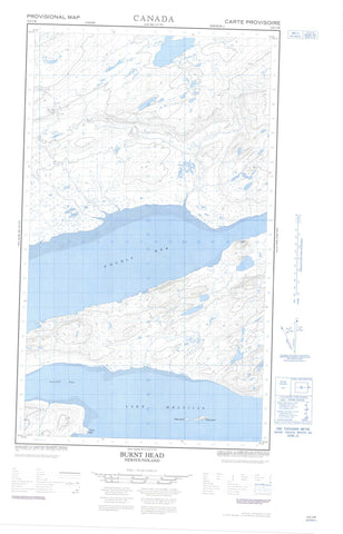 013J02W Burnt Head Canadian topographic map, 1:50,000 scale