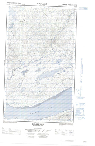 013J03W Double Mer Canadian topographic map, 1:50,000 scale