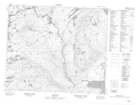 013J04 No Title Canadian topographic map, 1:50,000 scale