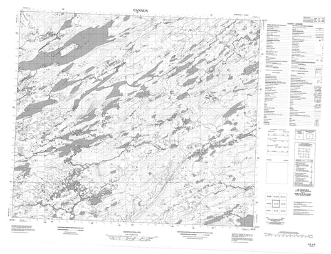 013J05 No Title Canadian topographic map, 1:50,000 scale