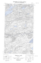 013J08W Ticoralak Island Canadian topographic map, 1:50,000 scale from Newfoundland Map Store