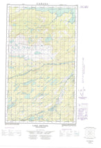 013J09E Lake Michael Canadian topographic map, 1:50,000 scale from Newfoundland Map Store