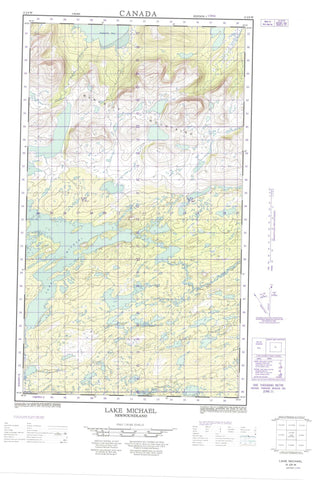 013J09W Lake Michael Canadian topographic map, 1:50,000 scale