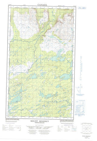 013J10E Mount Benedict Canadian topographic map, 1:50,000 scale