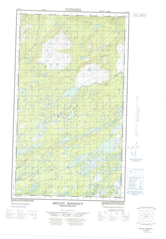 013J10W Mount Benedict Canadian topographic map, 1:50,000 scale