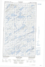 013J11E Micmac River Canadian topographic map, 1:50,000 scale from Newfoundland Map Store
