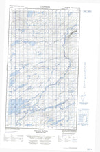 013J11W Micmac River Canadian topographic map, 1:50,000 scale from Newfoundland Map Store