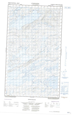 013J12E No Title Canadian topographic map, 1:50,000 scale