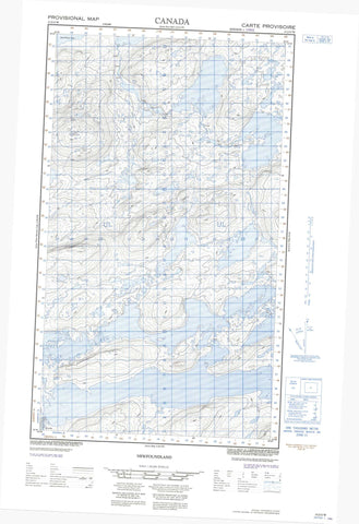 013J12W No Title Canadian topographic map, 1:50,000 scale
