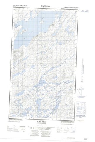 013J13E Post Hill Canadian topographic map, 1:50,000 scale
