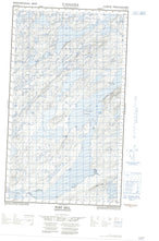 013J13W Post Hill Canadian topographic map, 1:50,000 scale from Newfoundland Map Store